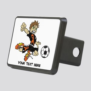 PERSONALIZED SOCCER BOY ORANGE RIBBON Hitch Cover